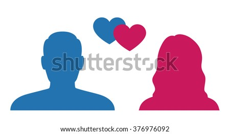 man and woman silhouette love