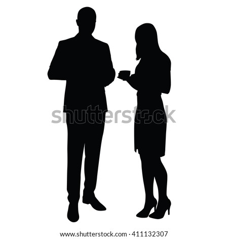 man and woman standing and