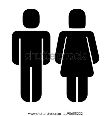 man and woman standing figure pictogram