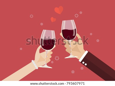 man and woman toasting a wine