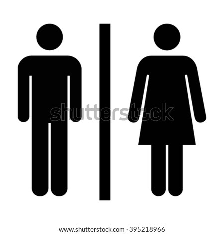 Man and Woman Unisex Icon - Vector