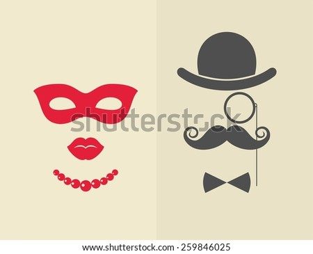 man and woman vector objects