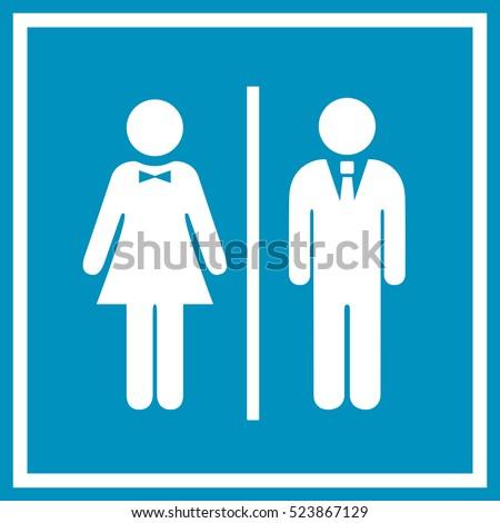 man and woman vector sign man