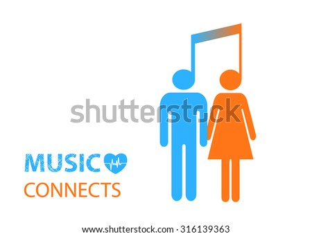 man and women connected by