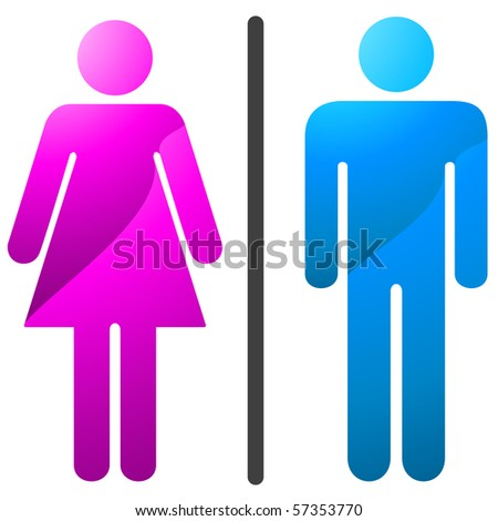 Man and women icon-enter.Vector illustration. - stock vector