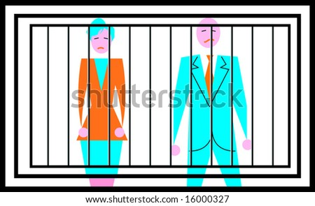 Man and women in prison