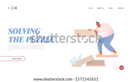 man assemble puzzle website