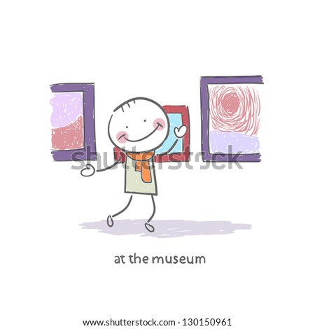Man at the Museum