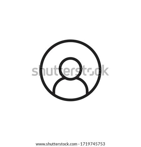 man avatar icon vector sign symbol isolated