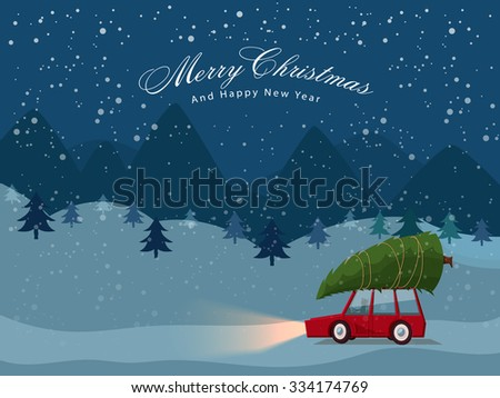 man carries a xmas tree by the