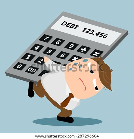 man carrying calculator made in
