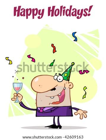 Man Celebrating Happy Holidays!