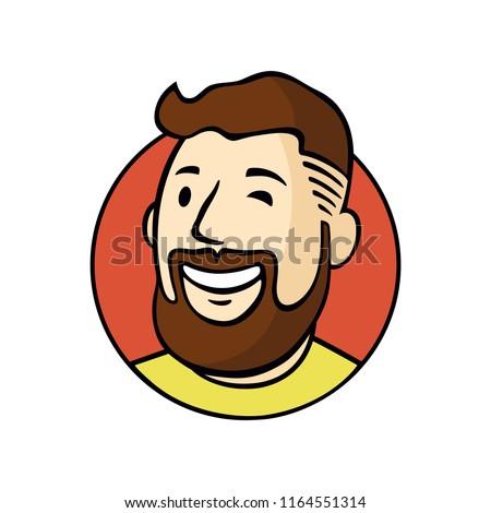 man character face avatar