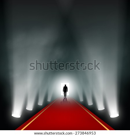 man comes to the light vector
