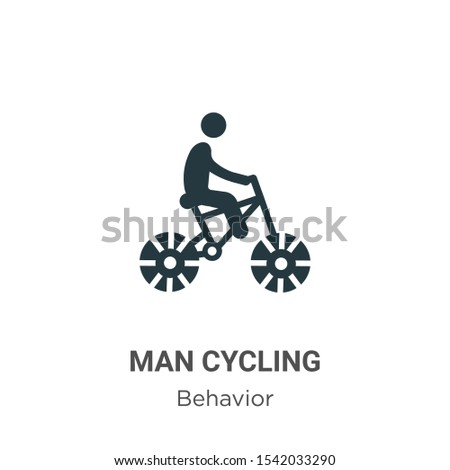 Man cycling vector icon on white background. Flat vector man cycling icon symbol sign from modern behavior collection for mobile concept and web apps design.