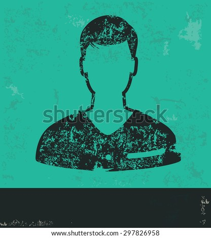 man design on green background