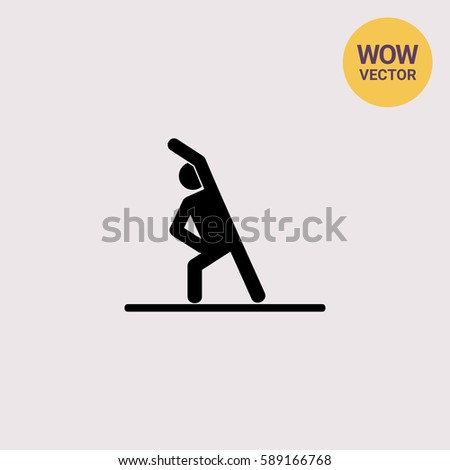 Man Doing Exercise Icon