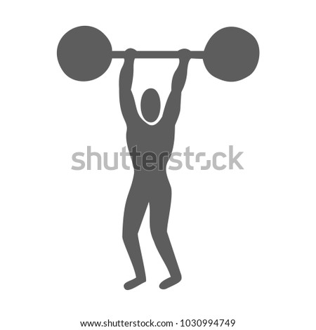 Man doing weight lifting. Silhouette of an athlete icon. Sportsman element icon. Premium quality graphic design.