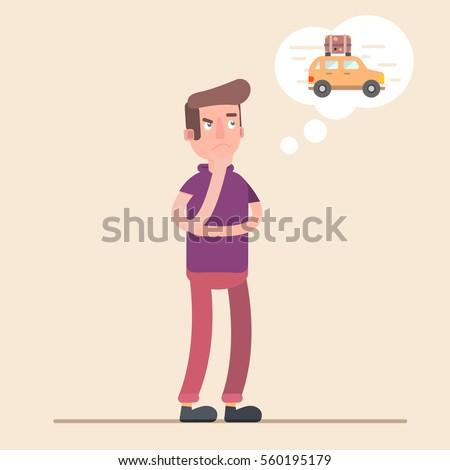 man dreams of a car money to