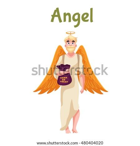 man dressed in angel costume