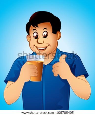 Man Drinking Juice