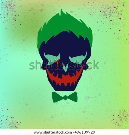 man face on colorful background