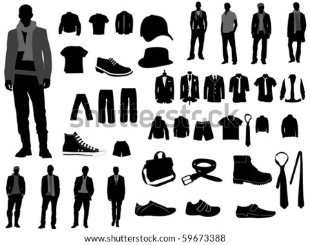 Clothing Silhouettes Free Vector Download Free Vector