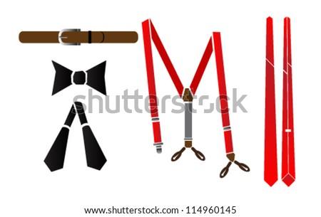 man fashion accessories vector illustration Сток-фото ©