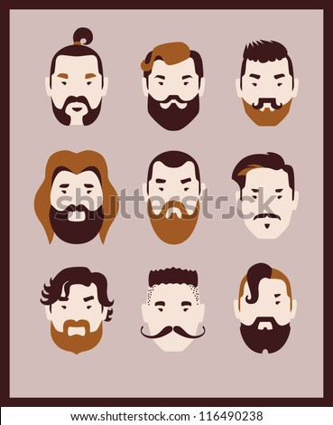 man fashion icon set vector eps 10