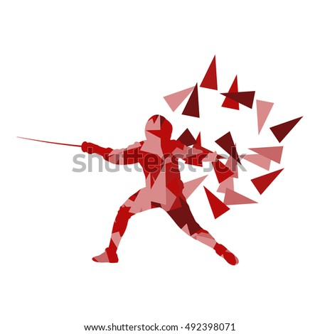 man fencing sport vector