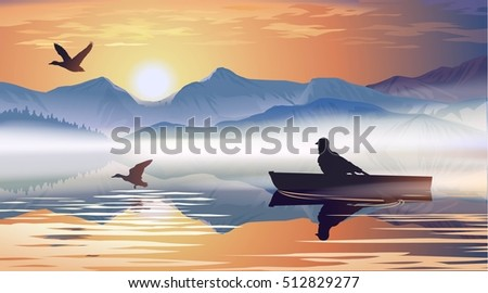 man floating in a boat on the
