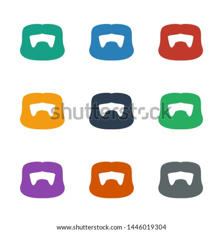 man hairstyle icon white background. Editable filled man hairstyle icon from barber. Trendy man hairstyle icon for web and mobile.