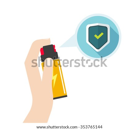man hand holding self defense