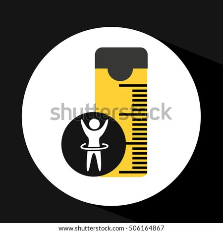 man hand up silhouette measure