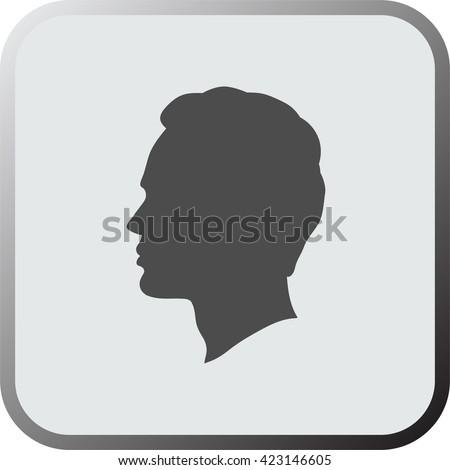 man head icon  button  isolated