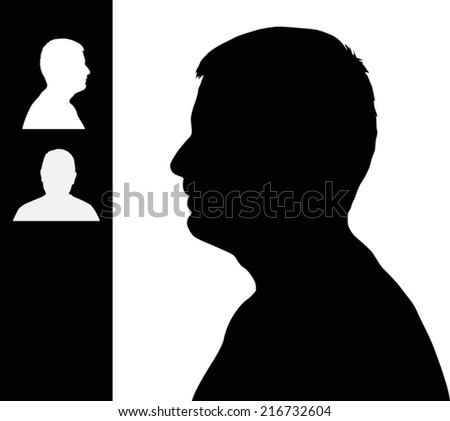 man head silhouette close up