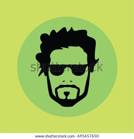 Man hipster vector