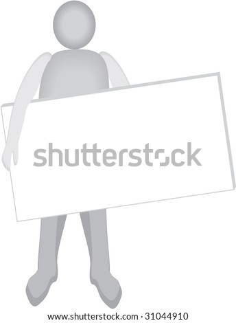 man hold white card