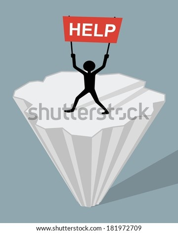 man holding help sigh  marooned