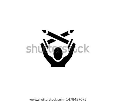 man holding two swords vector
