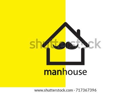 man house logo design creative