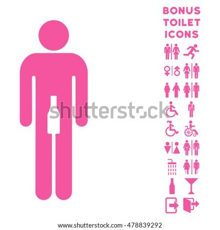 man icon and bonus male and
