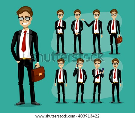 man in a business style set of