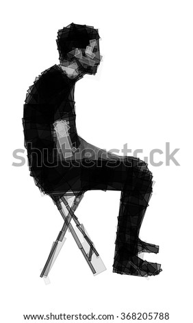 man in bad posture sitting on a