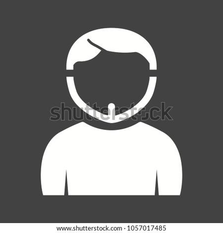 man in chin strap