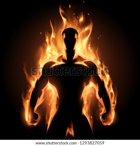 man in flame