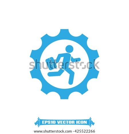 man in gear icon vector illustration eps10
