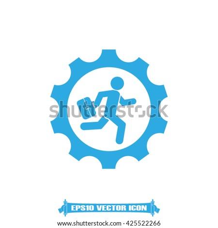 man in gear icon vector illustration eps10