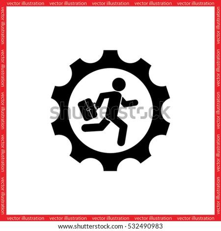 man in gear icon vector illustration eps10.