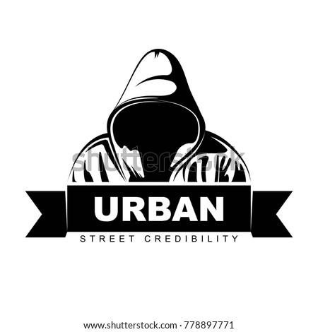 man in hoodie logo design